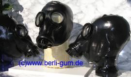 Latex -Black Eyes- Gasmaske one way - Bild vergrößern
